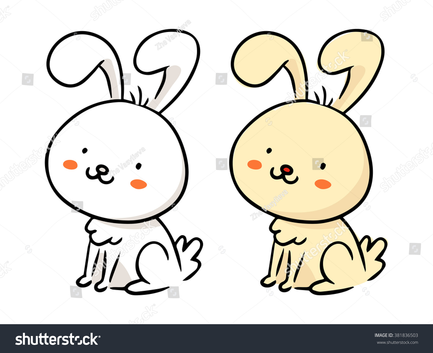 cute freehand cartoon vector character funny stock vector
