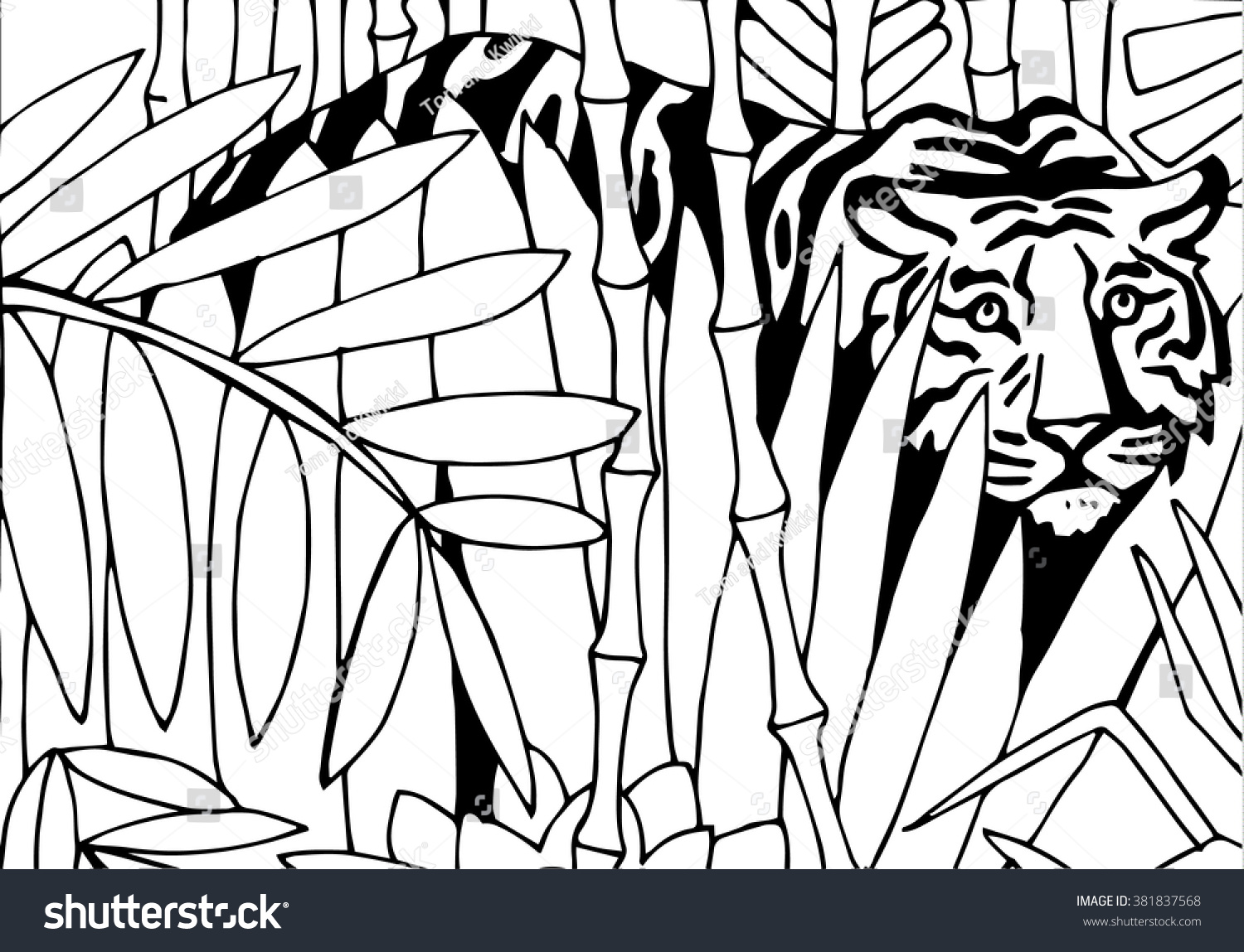 jungle book tiger coloring pages - photo#41