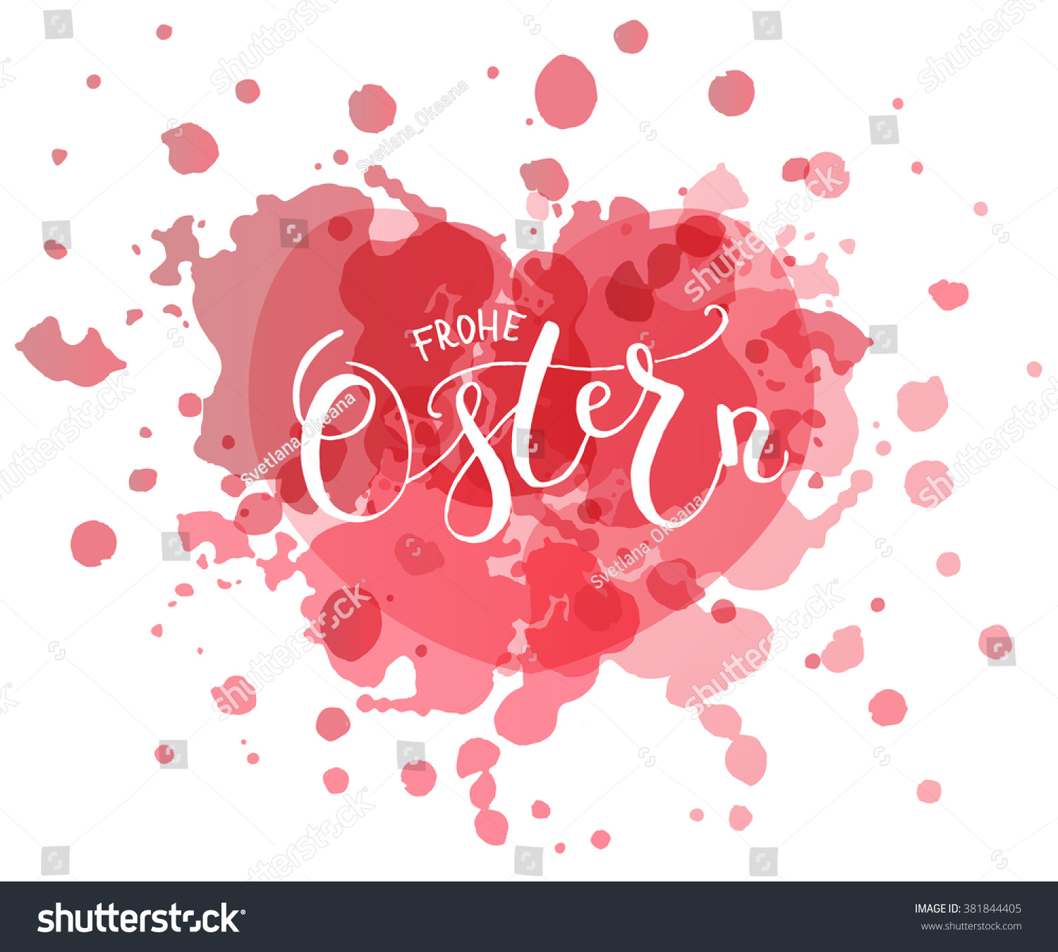 Hand Sketched Ostern Easter German Text Vector 381844405 – Easter Postcard Template