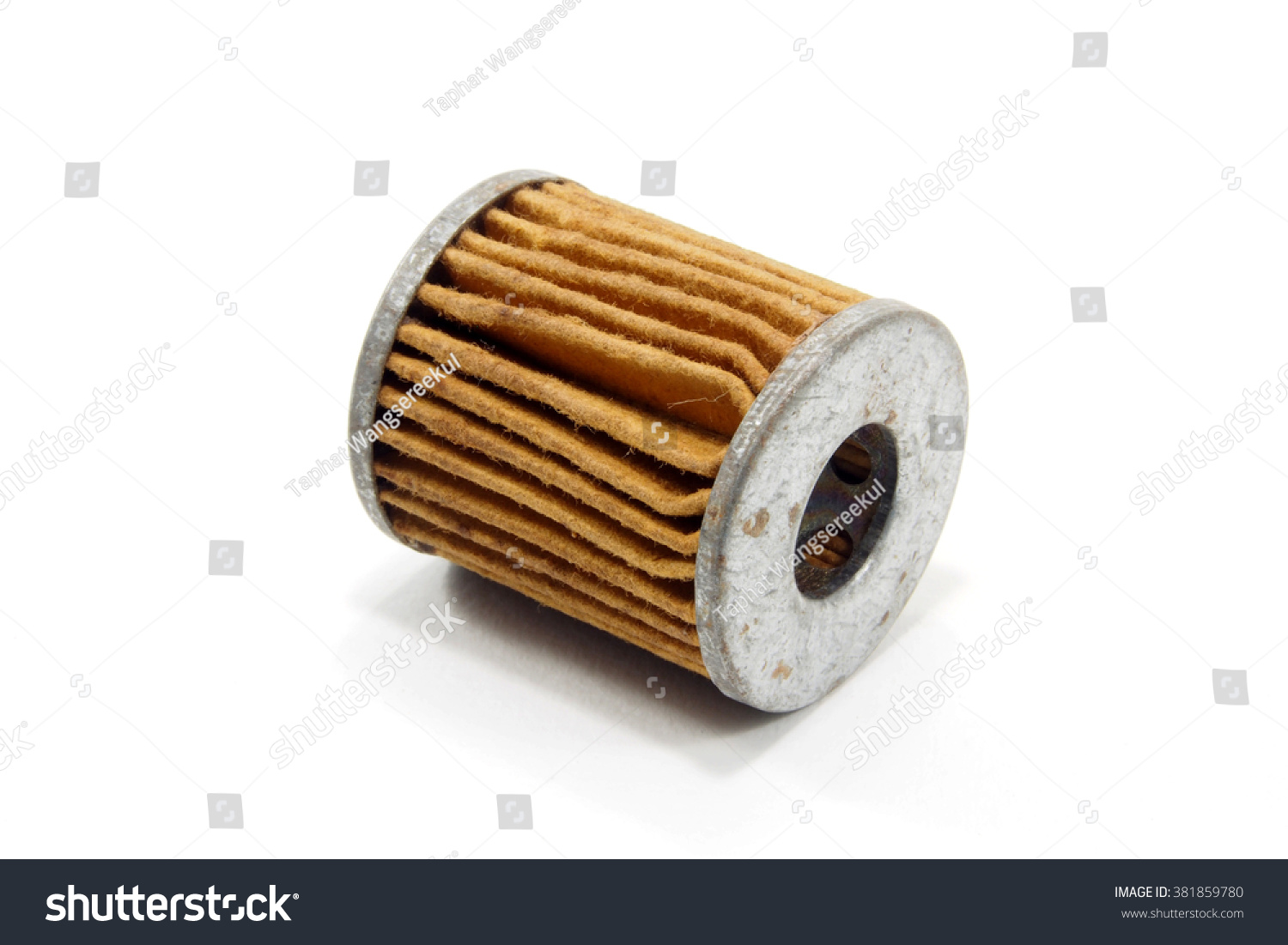 Used Fuel Filter Diesel Engine On Stock Photo Edit Now 381859780 Of White Background