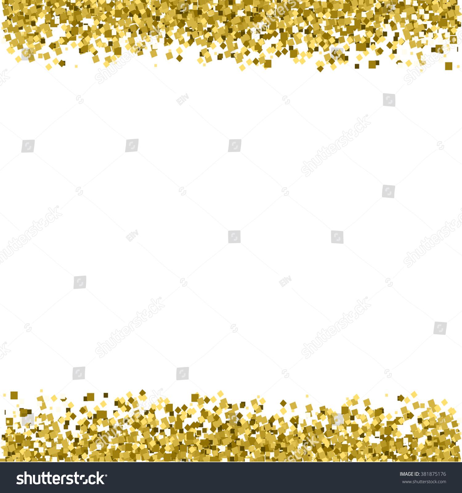 Border Background Gold Glitter Vector Texture Stock Vector - 1500x1600 ...