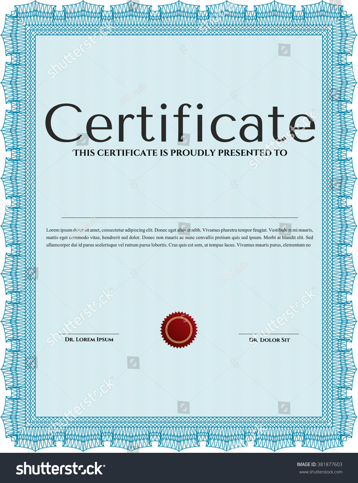 Sample Certificate Diploma Vector Certificate Template Stock ...