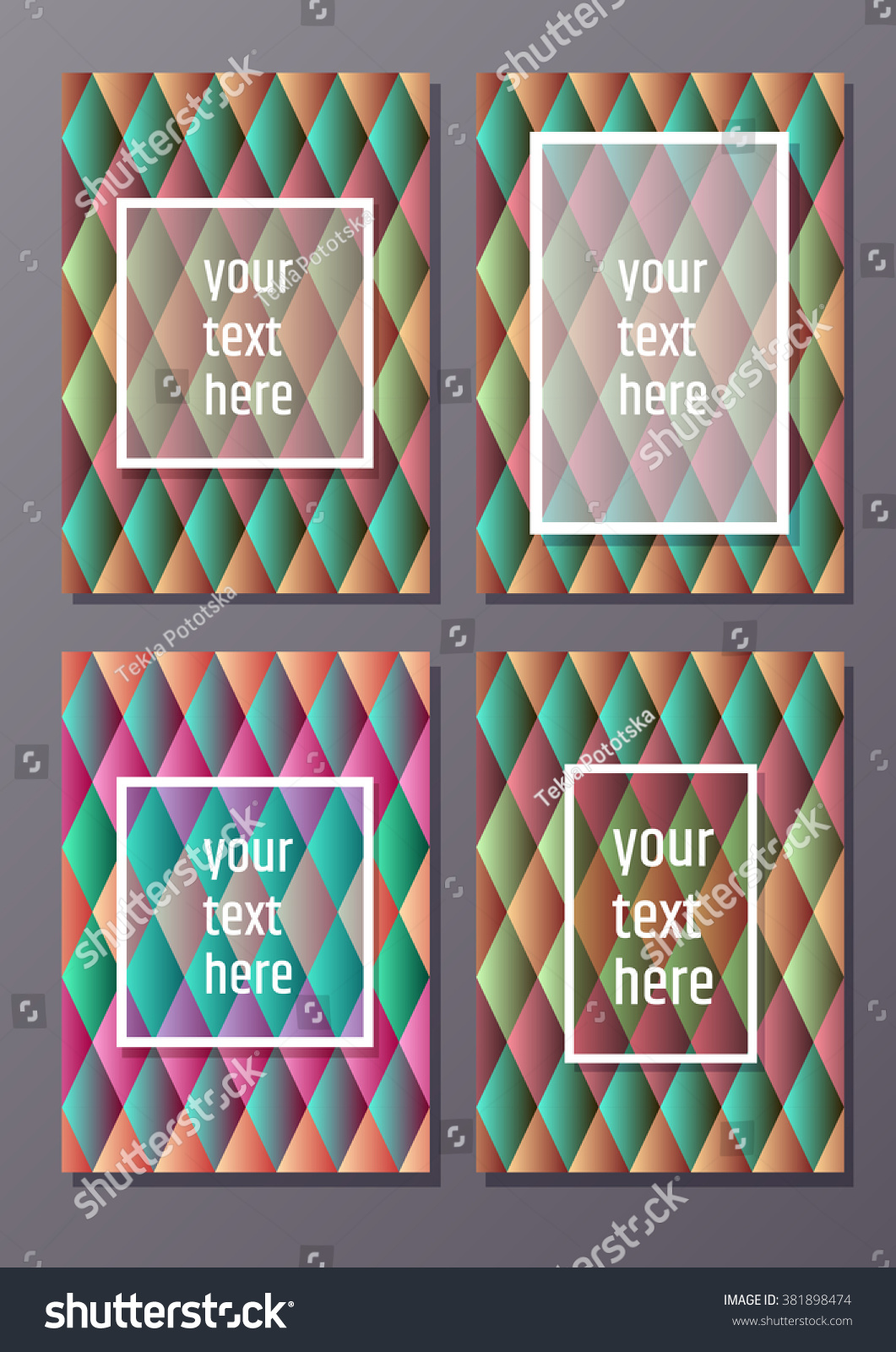 four abstract colorful d effect a dimensions card set creative four abstract colorful 3d effect a4 dimensions card set creative title page background bright