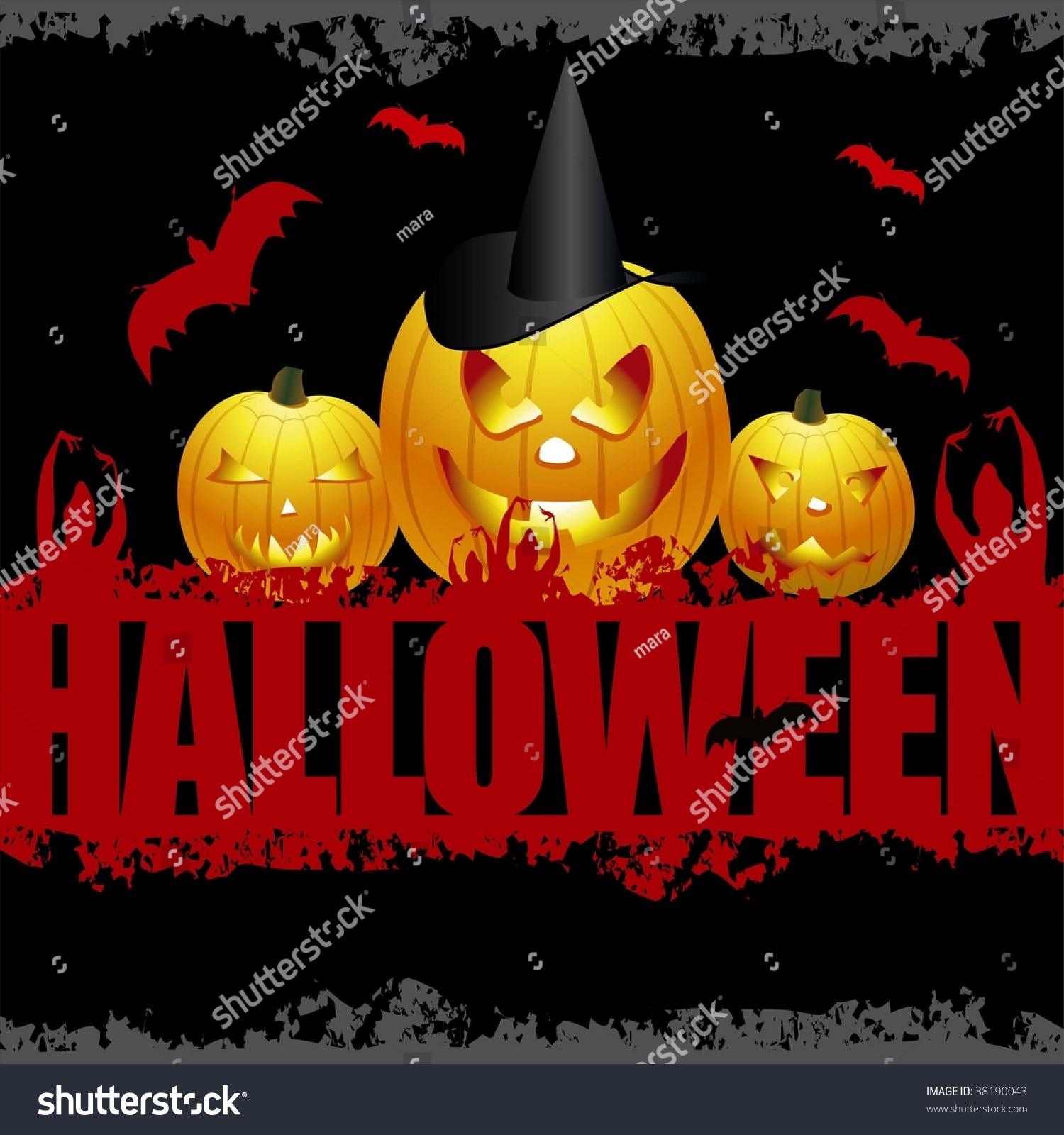 Halloween Scene Stock Vector 38190043 - Shutterstock