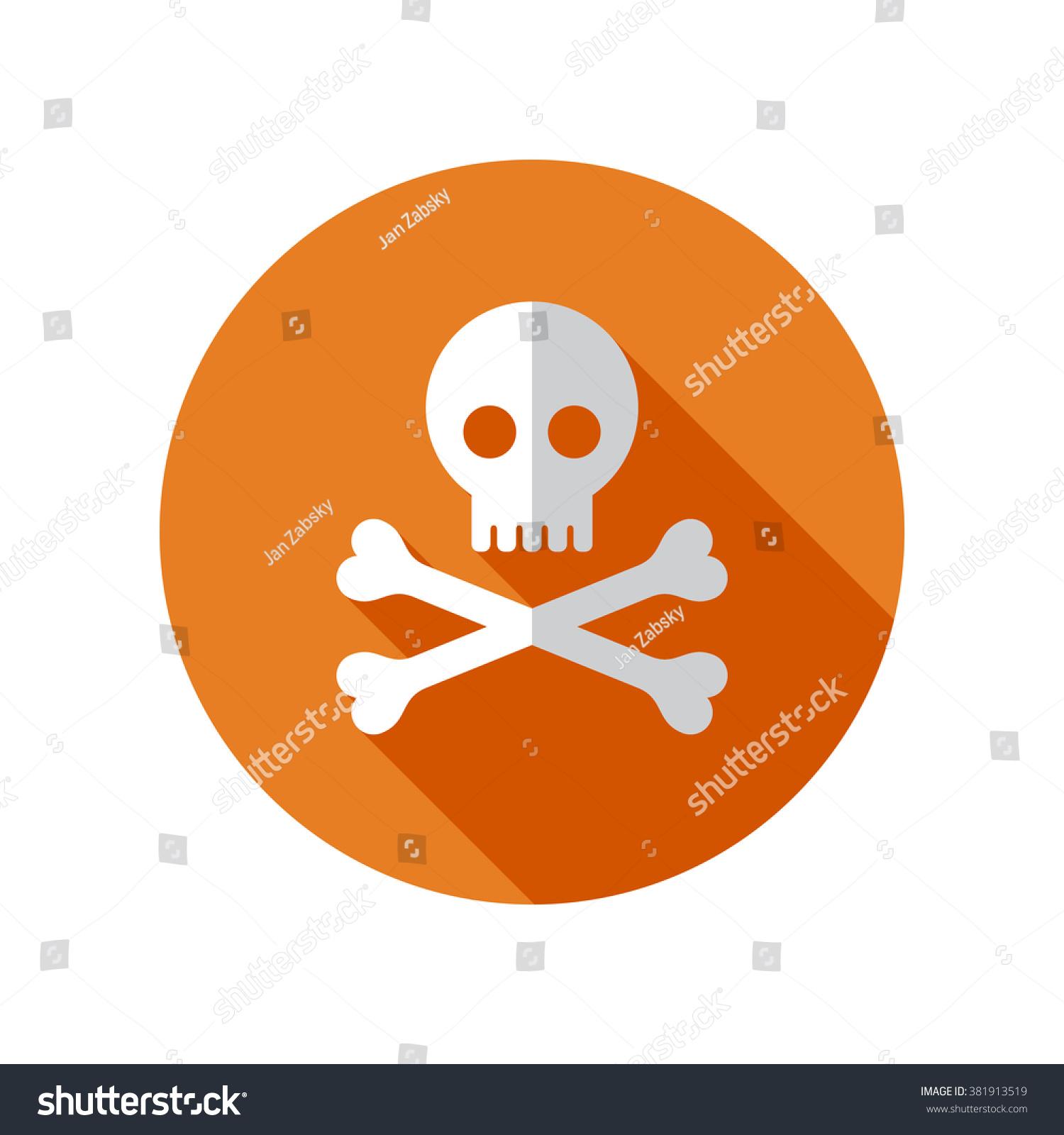 Skull Crossbones Flat Design Modern Vector Stock ...
