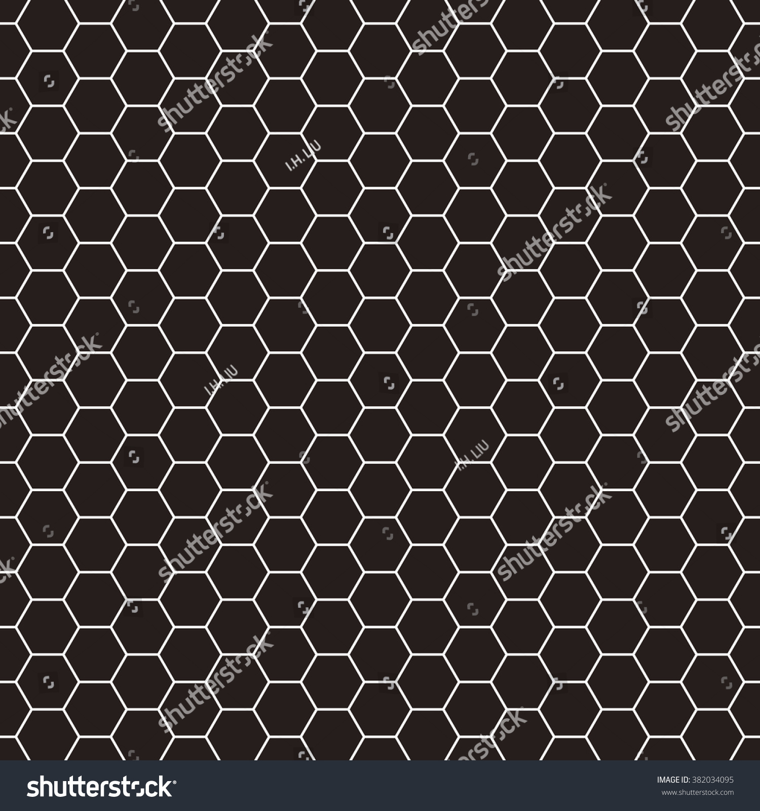 Hexagonal Grid Design Vector Seamless Pattern Stock Vector