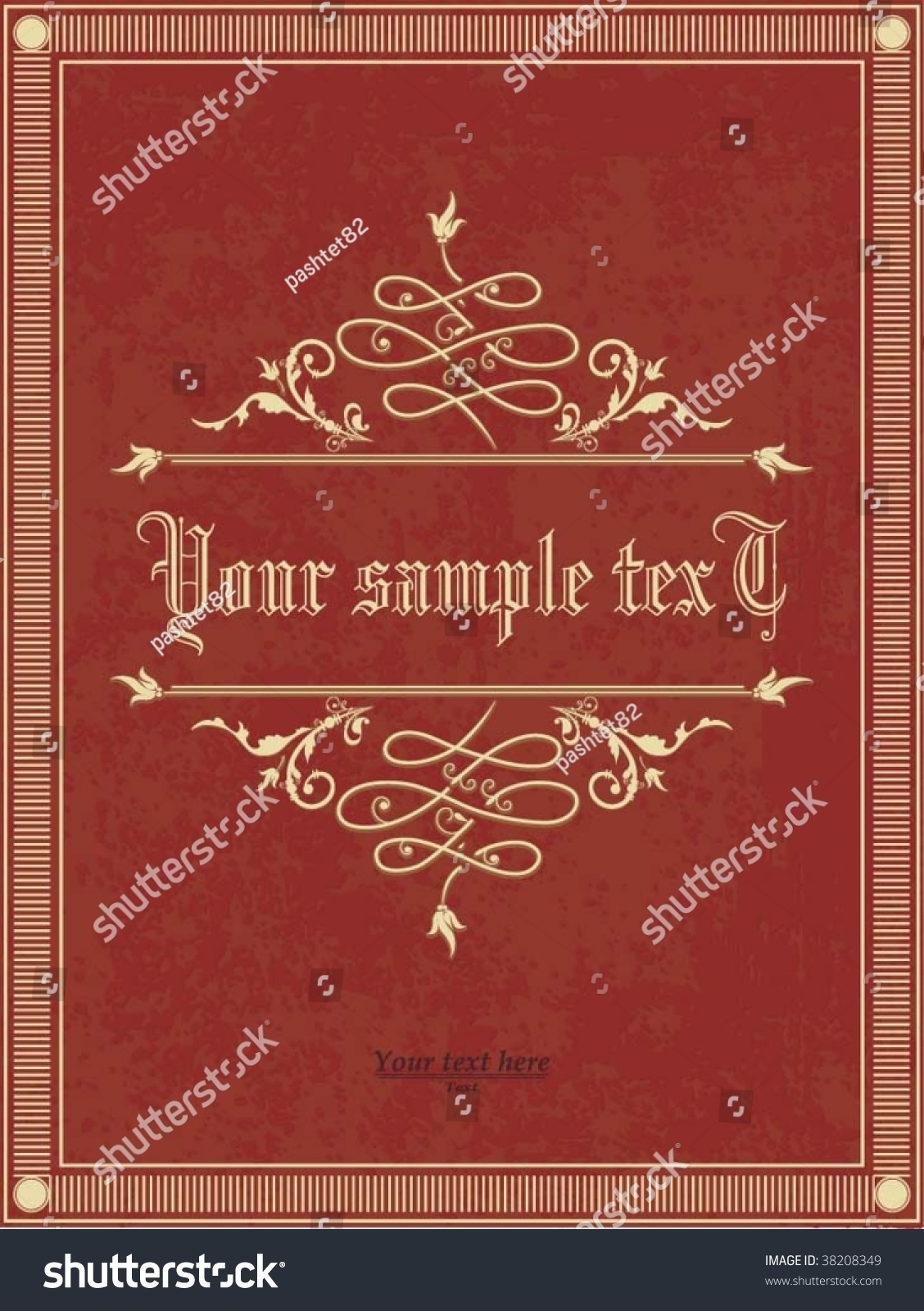 Poetry Book Cover Vector ~ Vertical vintage background book cover stock vector