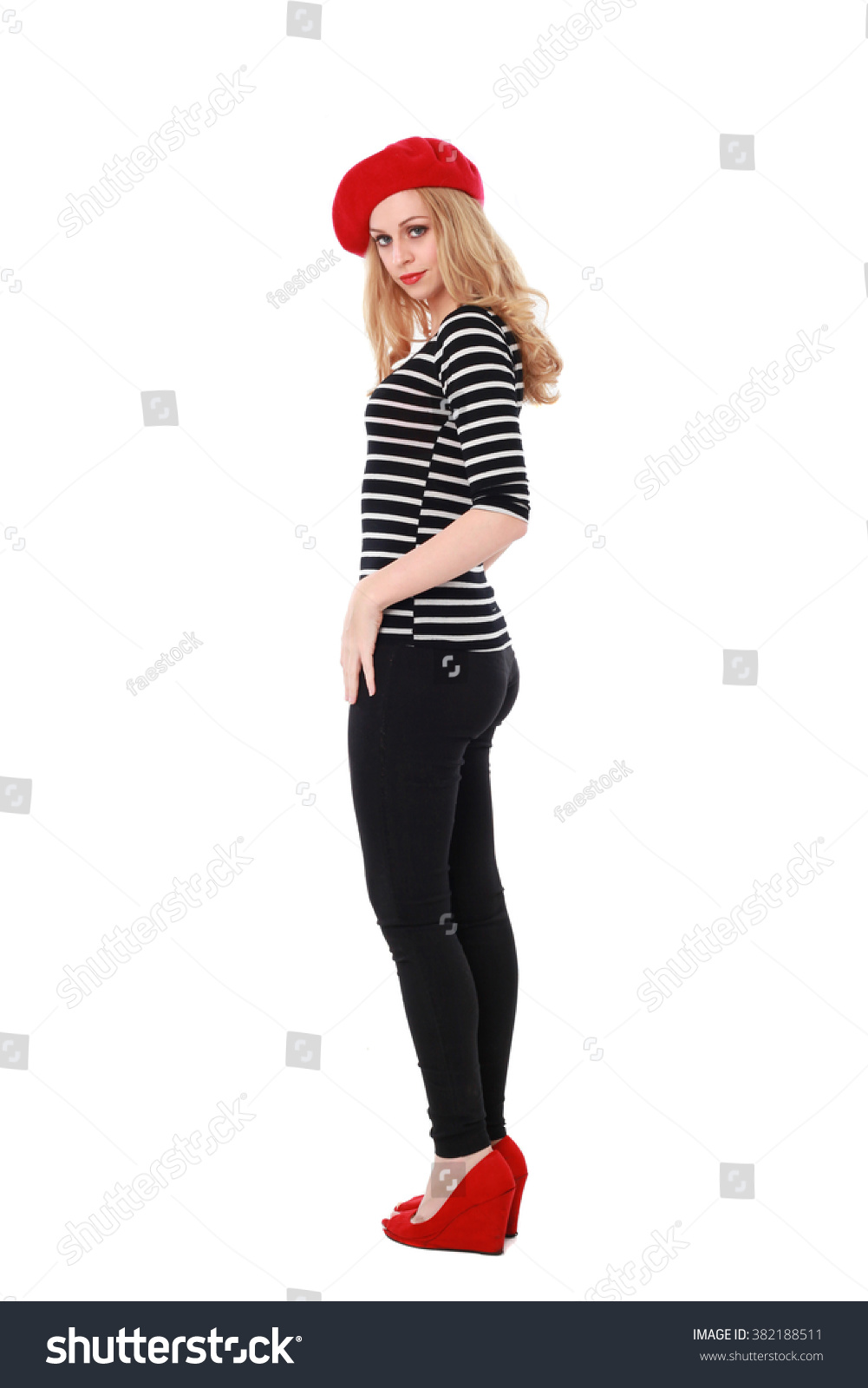 Royalty-free Blonde woman wearing stereotypical ...