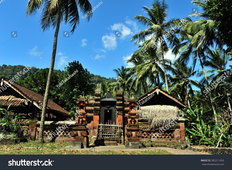Balinese Temple Tenganan Village Bali Aga Stock Photo Edit Now 382211950