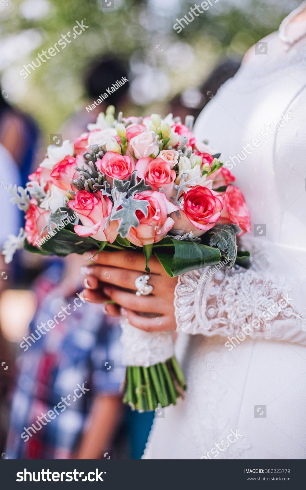 Impressive Beautiful Wedding Flowers Candy Bar Stock Photo Royalty
