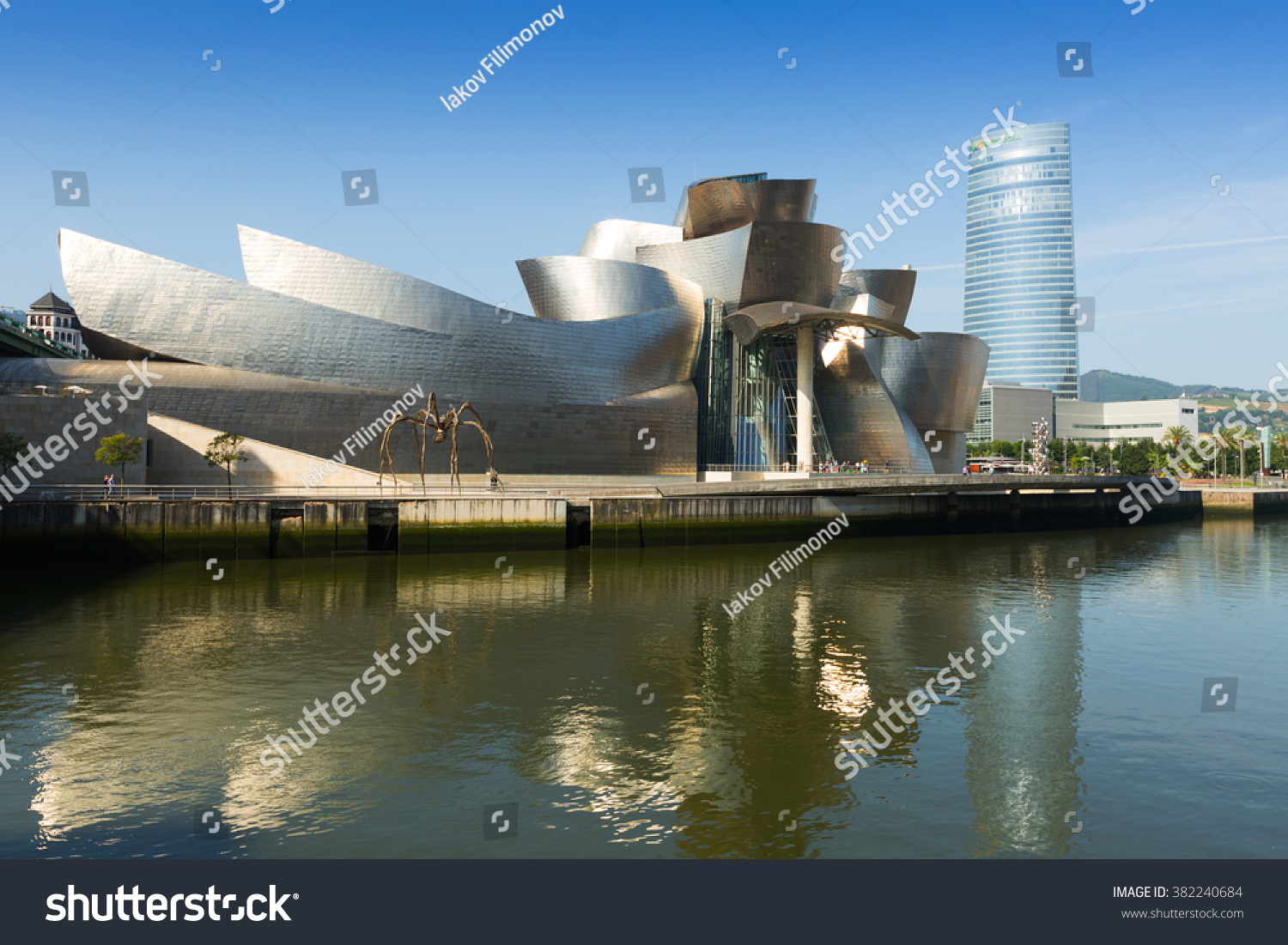 bilbao spain july 4 2015 guggenheim museum bilbao is museum of modern and contemporary