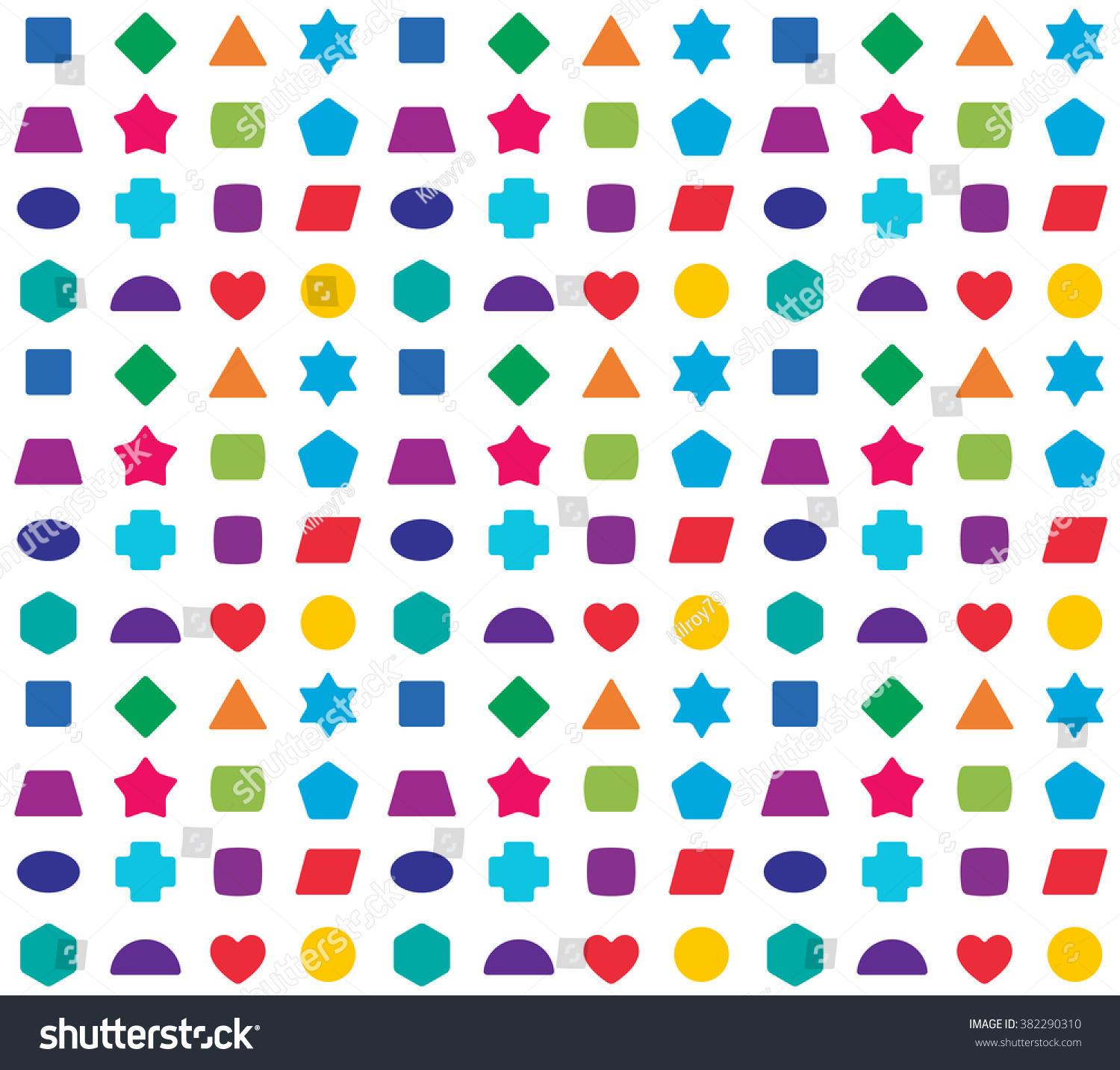pattern colorful shapes - photo #40