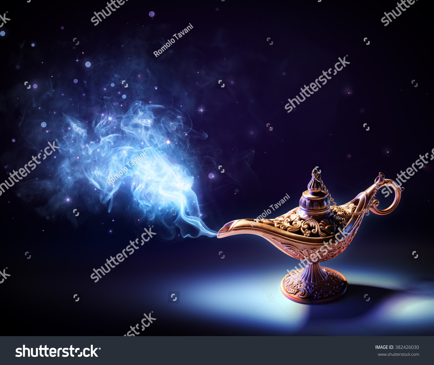 Lamp Wishes Magic Smoke Coming Out Stock Photo 382426030 ... for Magic Lamp With Smoke  56mzq