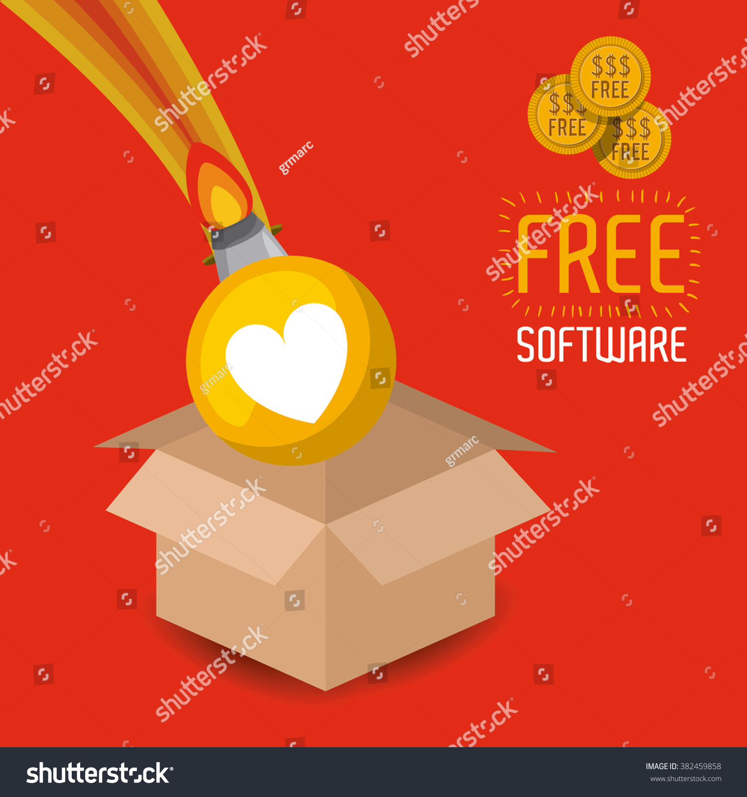 Free software design stock vector illustration 382459858 Vector image software