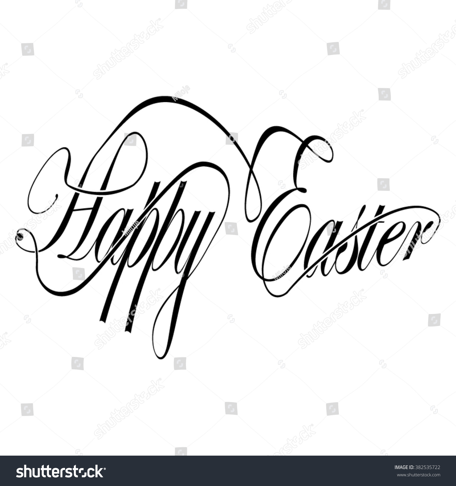 Calligraphy happy easter stock vector