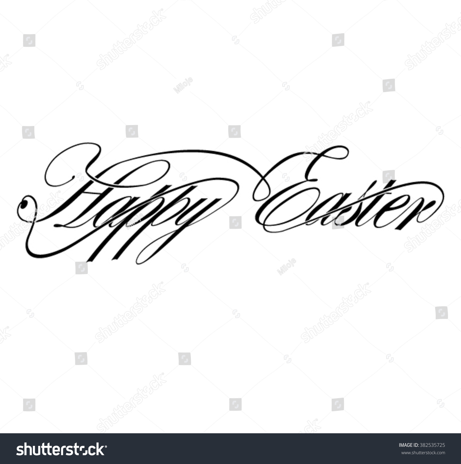 Calligraphy happy easter stock vector illustration