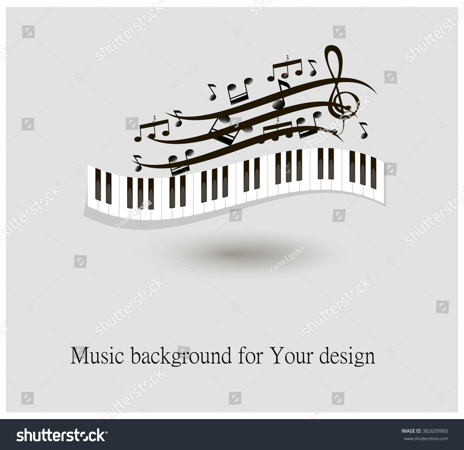 Black White Piano Keys Music Notes Stock Vector Royalty Free Diagram With And Illustration