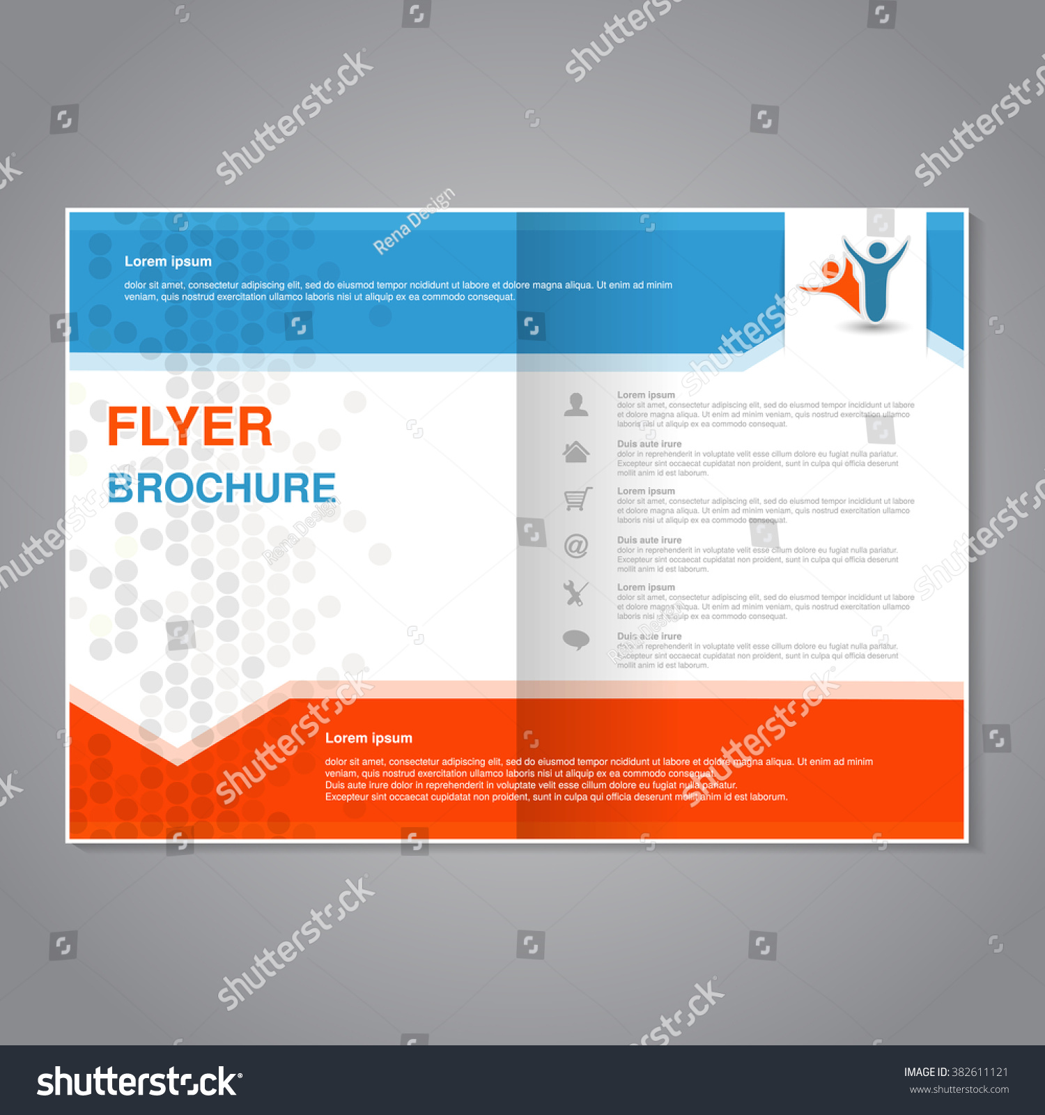 Poster design size - Vector Modern Brochure Abstract Flyer With Simple Dotted Design Aspect Ratio For A4 Size