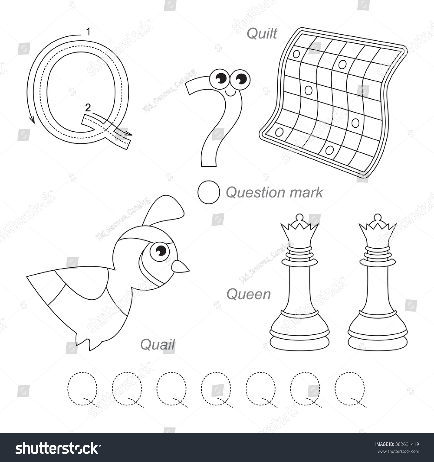 Tracing Worksheet Children Full English Alphabet Stock Vector 382631419 -  Shutterstock