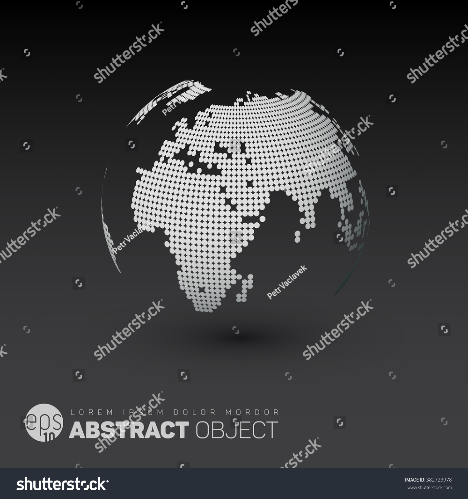 World map globe template made dots stock vector 382723978 shutterstock gumiabroncs Image collections