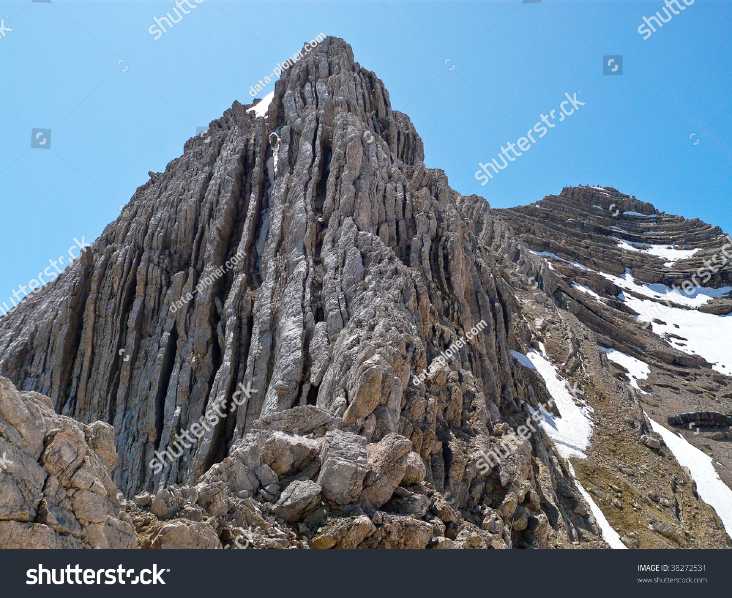 Geology Dolomites Tofana Di Mezzo Cortina Stock Photo