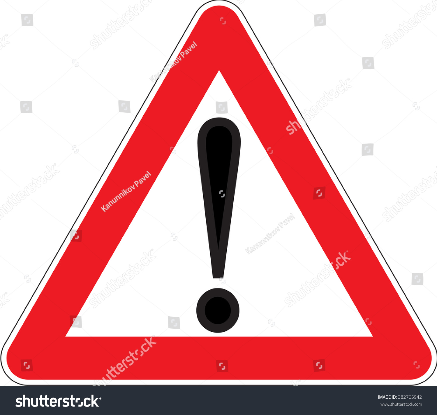 Warning Signs Other Danger Emergency Dangerous Stock Vector Royalty