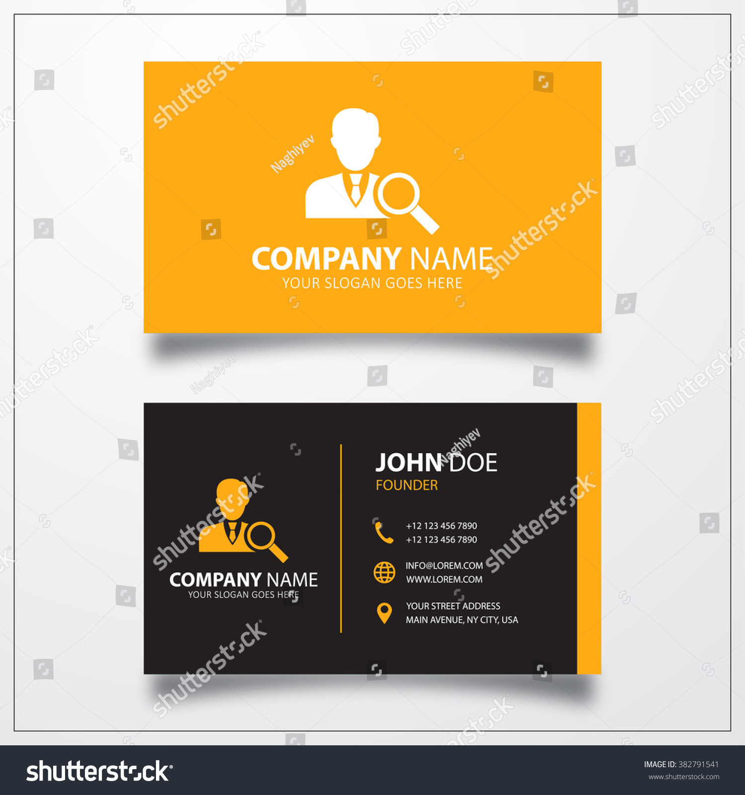 job search icon business card template stock vector illustration job search icon business card template