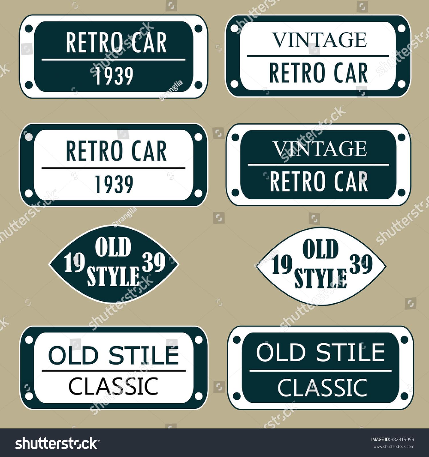 Значка для ретро автомобили 3