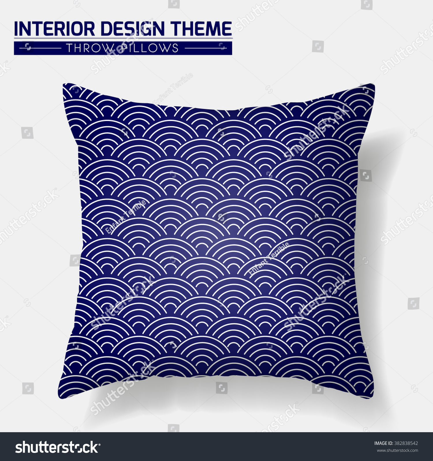 Decorative Throw Pillow Design Template Geometric Stock Vector