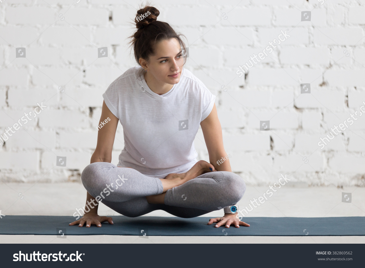 Beautiful Young Woman Working Out Loft Stock Photo -5786