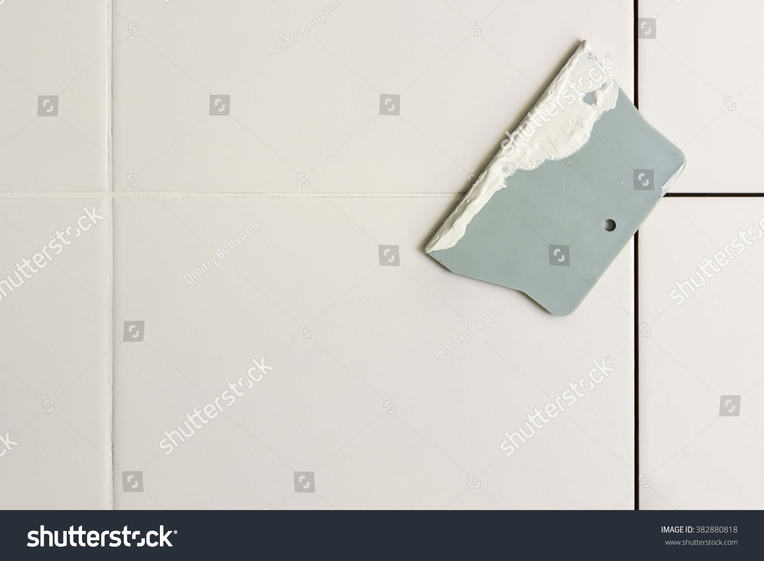 Bathroom Tile Trowel : Tile and grout trowel stock photo shutterstock