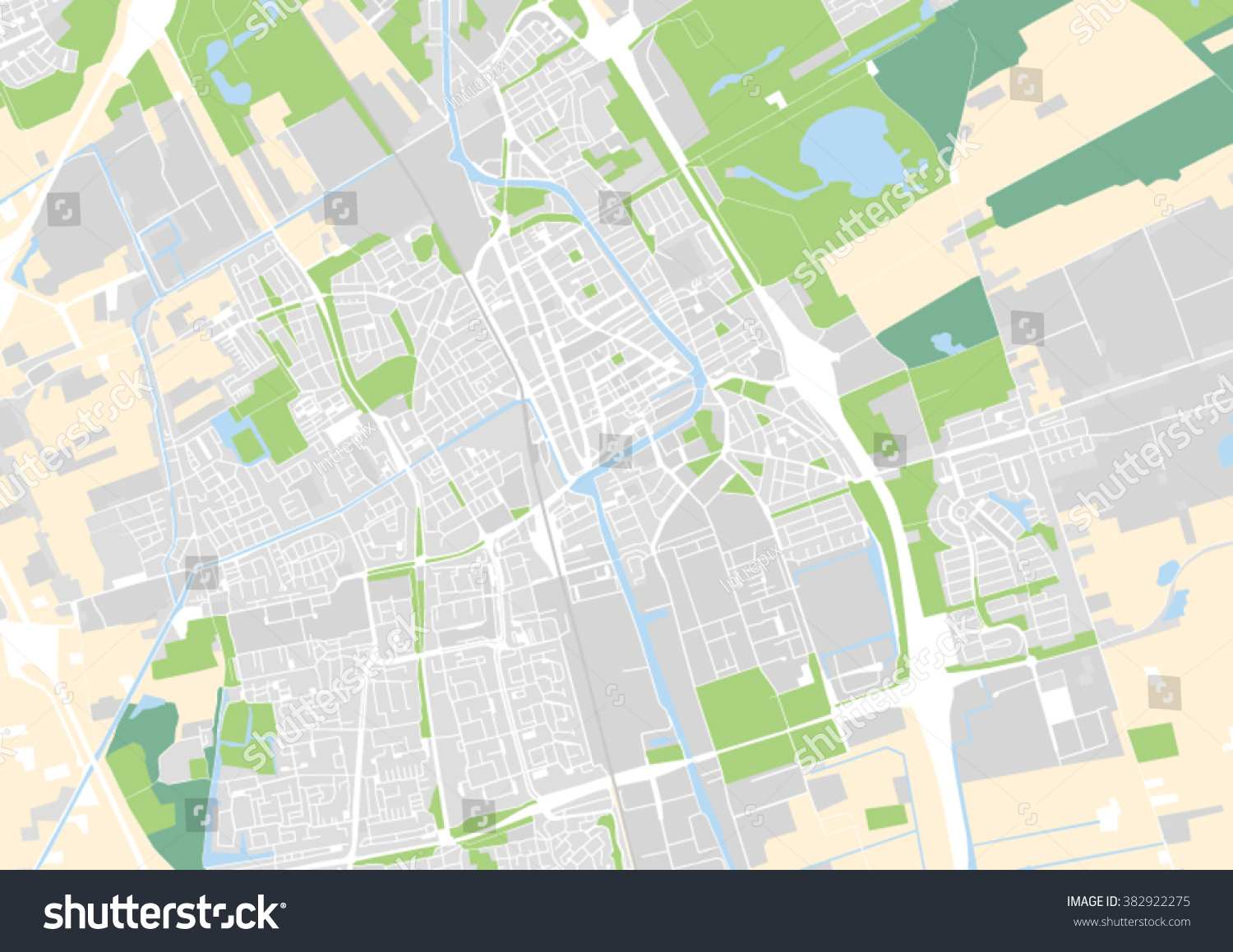 Vector City Map Delft Netherlands Stock Vector HD Royalty Free