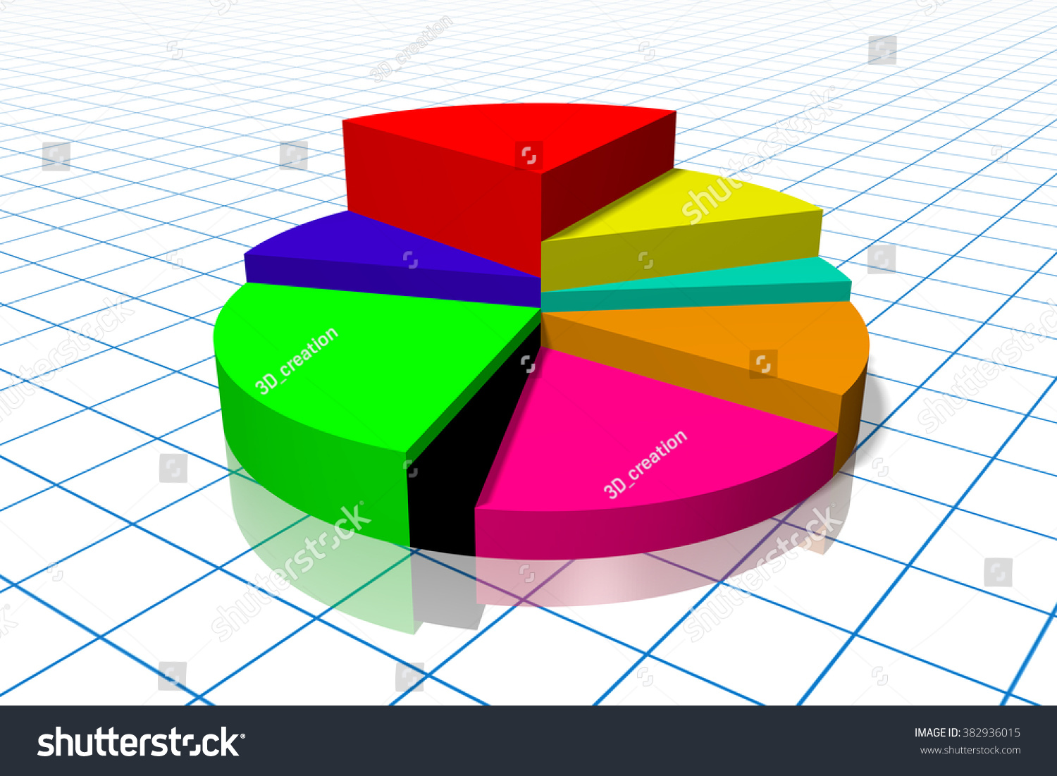 3d pie chart enhance your presentation stock illustration 3d pie chart to enhance your presentation great for topics like financial data or report nvjuhfo Choice Image