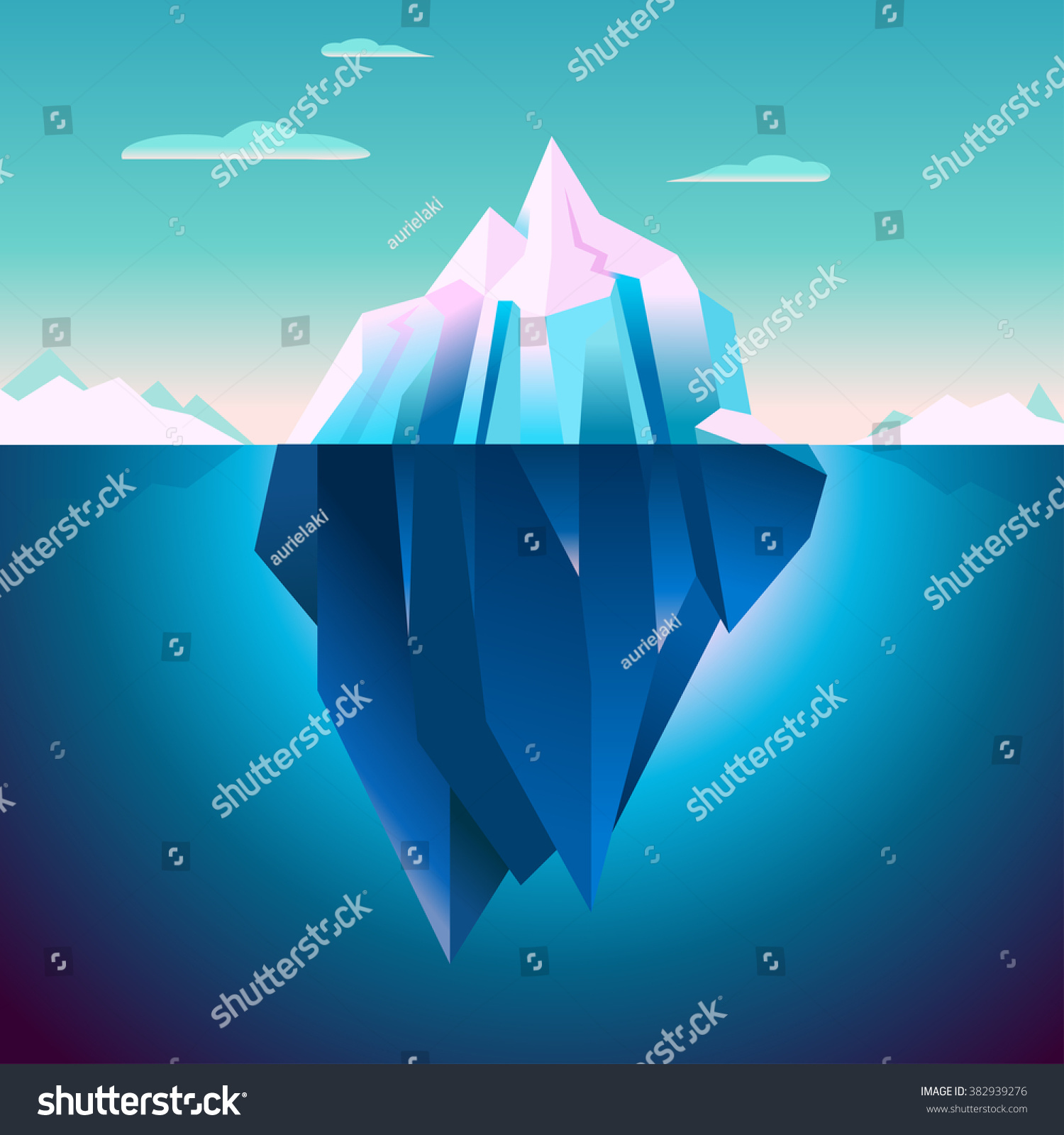 arctic iceberg sunrise lights background vector stock vector arctic iceberg sunrise lights background vector polar morning landscape quartz ice in serenity colors