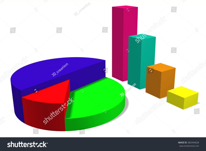 3d pie bar chart stock illustration 382944628 shutterstock 3d pie and bar chart nvjuhfo Gallery