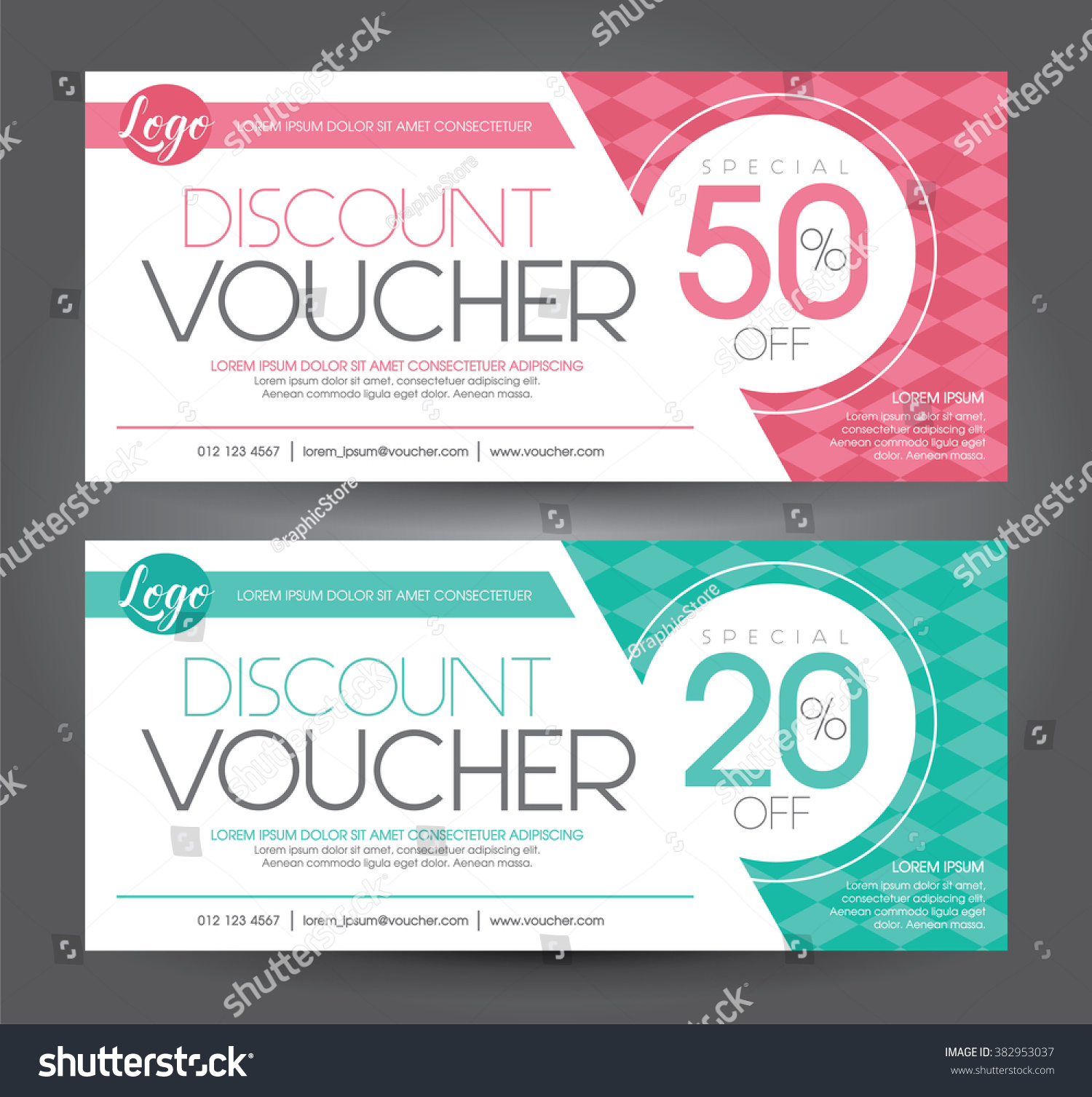 vector illustration discount voucher template clean stock vector discount voucher template clean and modern pattern