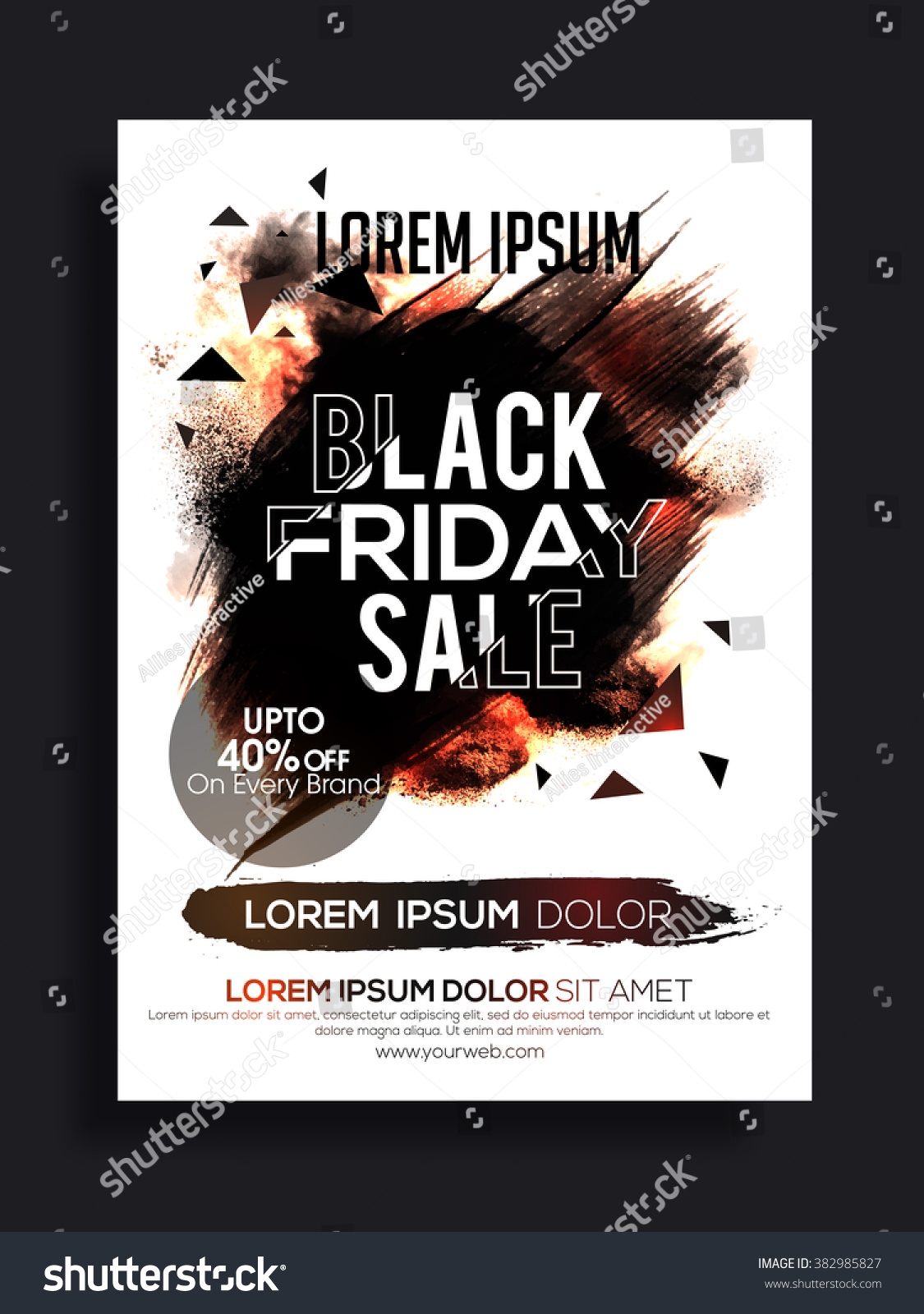 Black Friday Sale Banner Sale Poster Stock-Vektorgrafik (Lizenzfrei ...