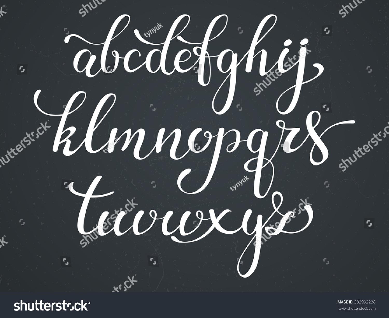 Handwritten Style Modern Calligraphy Font Alphabet Cute