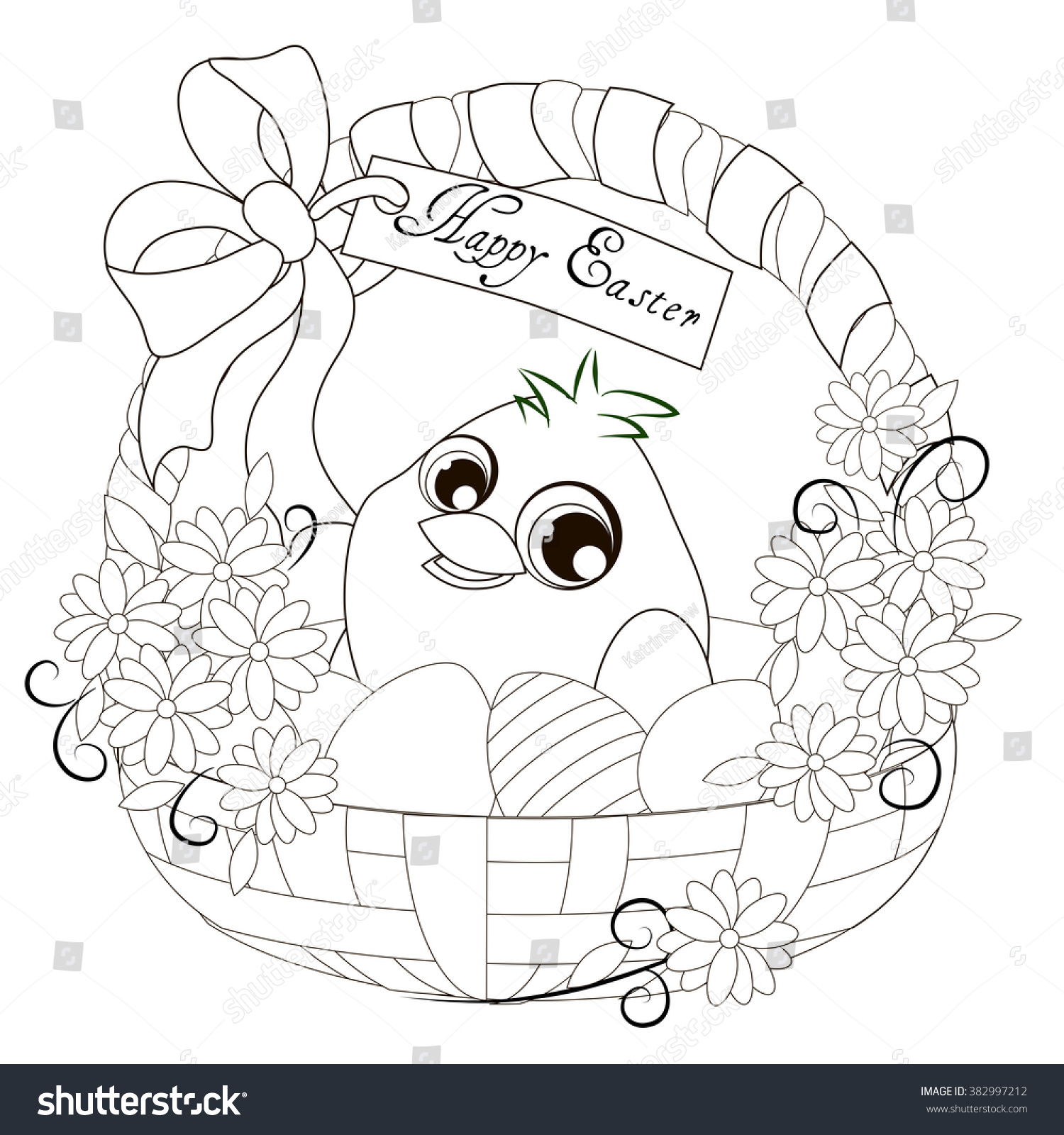 easter basket easter basket stock illustration