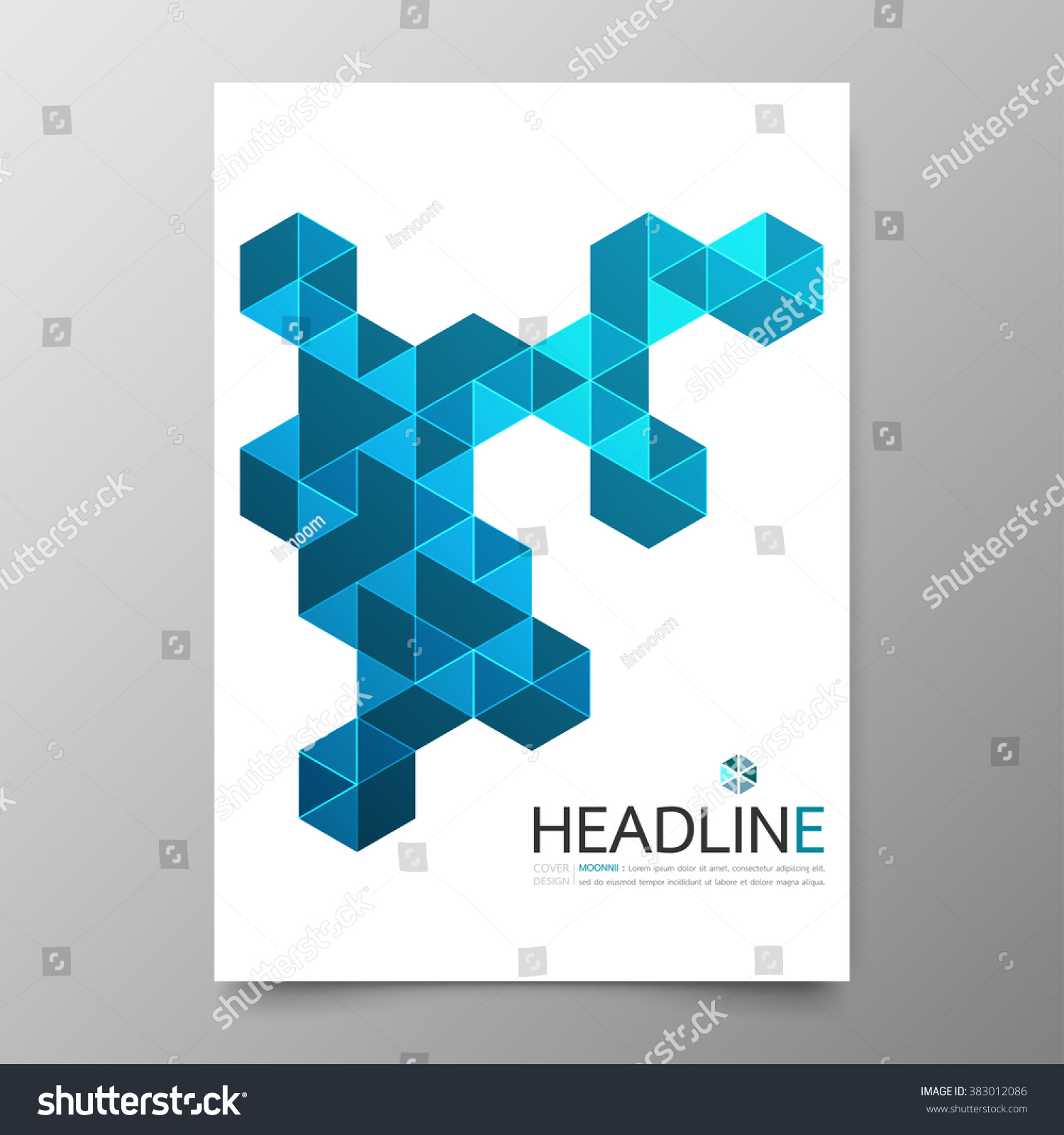 business annual report cover template designgeometric stock vector business annual report cover template design geometric triangle blue abstract background layout in a4