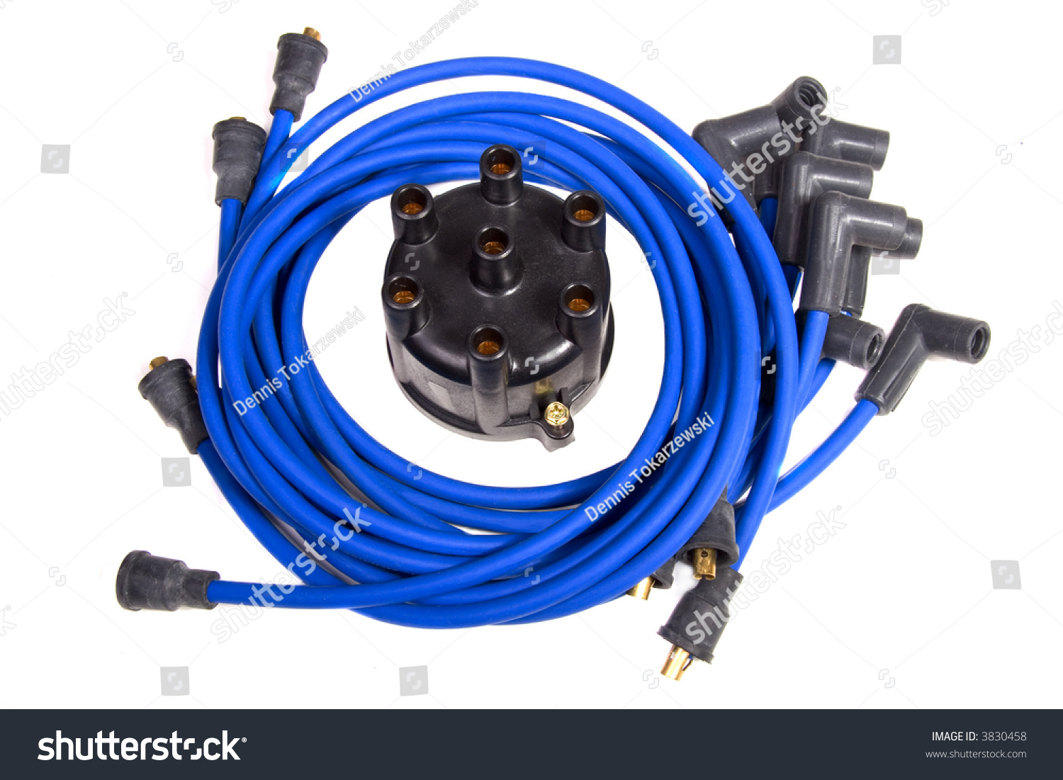 Car Tune Up Parts : Automotive ignition tune up parts over white stock photo
