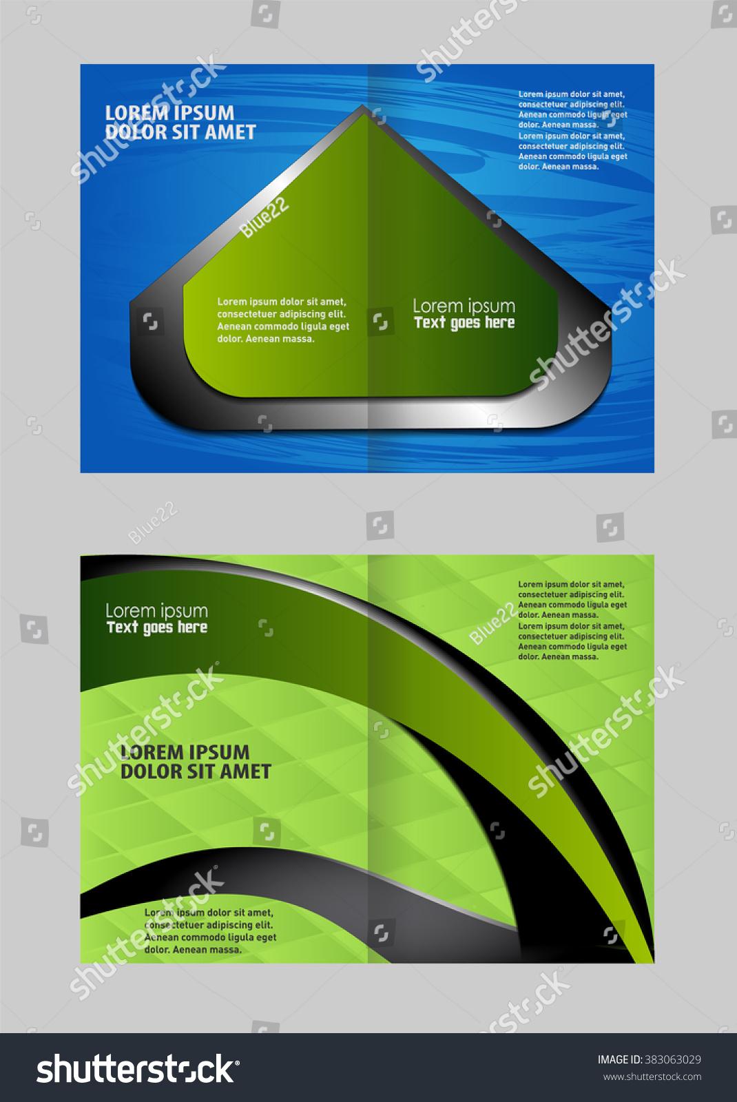 advertising brochure template - template advertising brochure stock vector 383063029