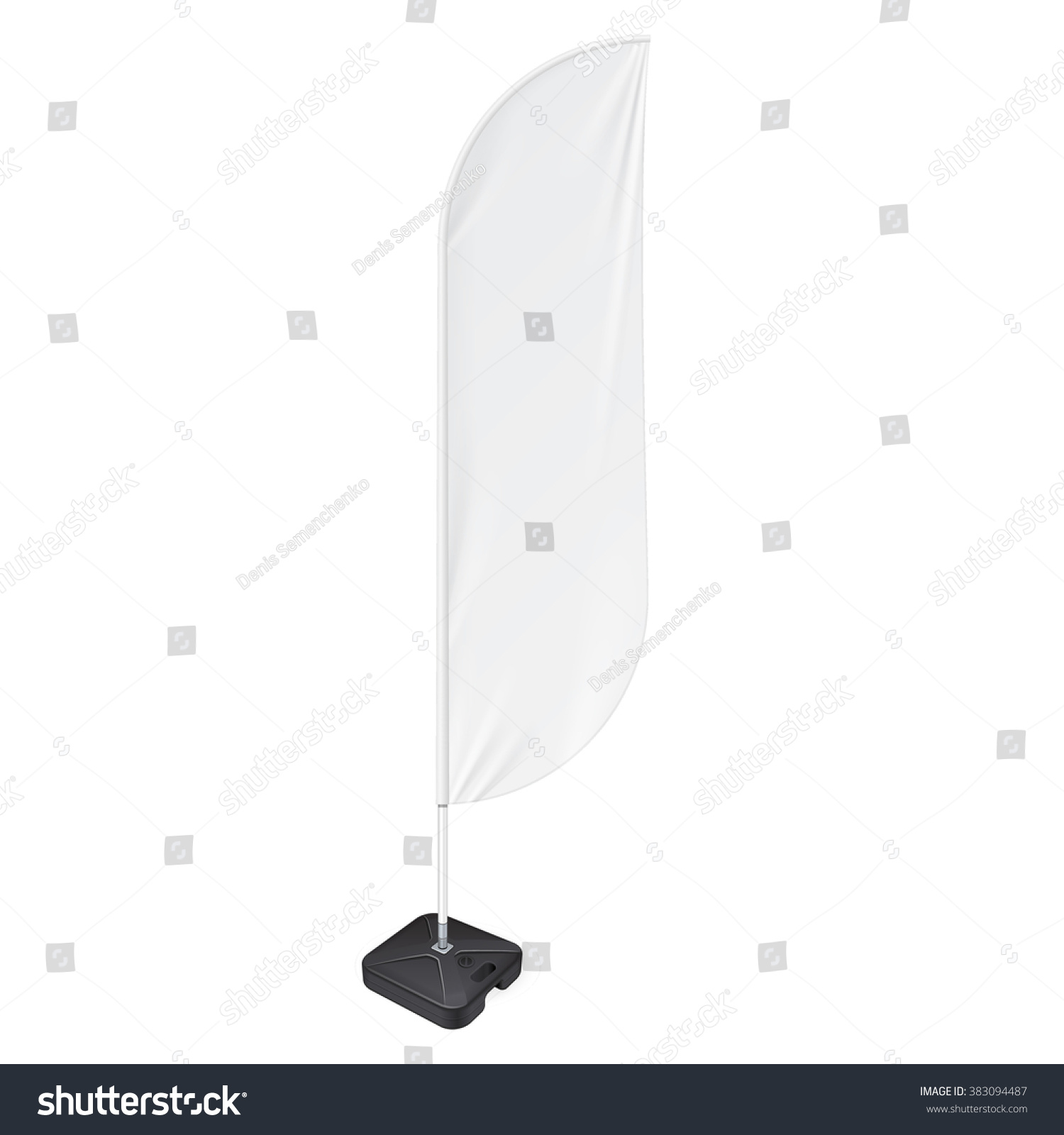 white outdoor feather flag ground fillable stock vector 383094487 shutterstock. Black Bedroom Furniture Sets. Home Design Ideas