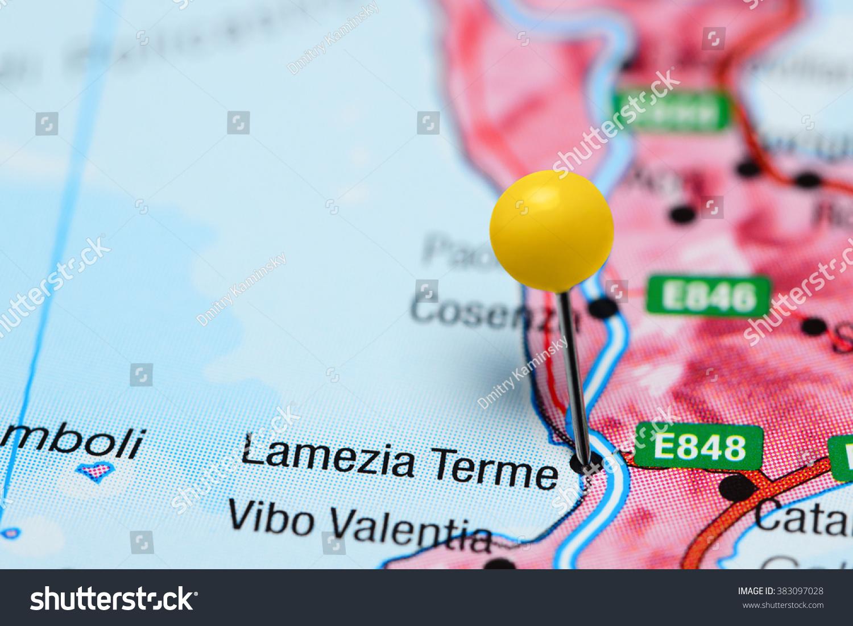 Lamezia Terme Pinned On Map Italy Stock Photo 383097028 Shutterstock
