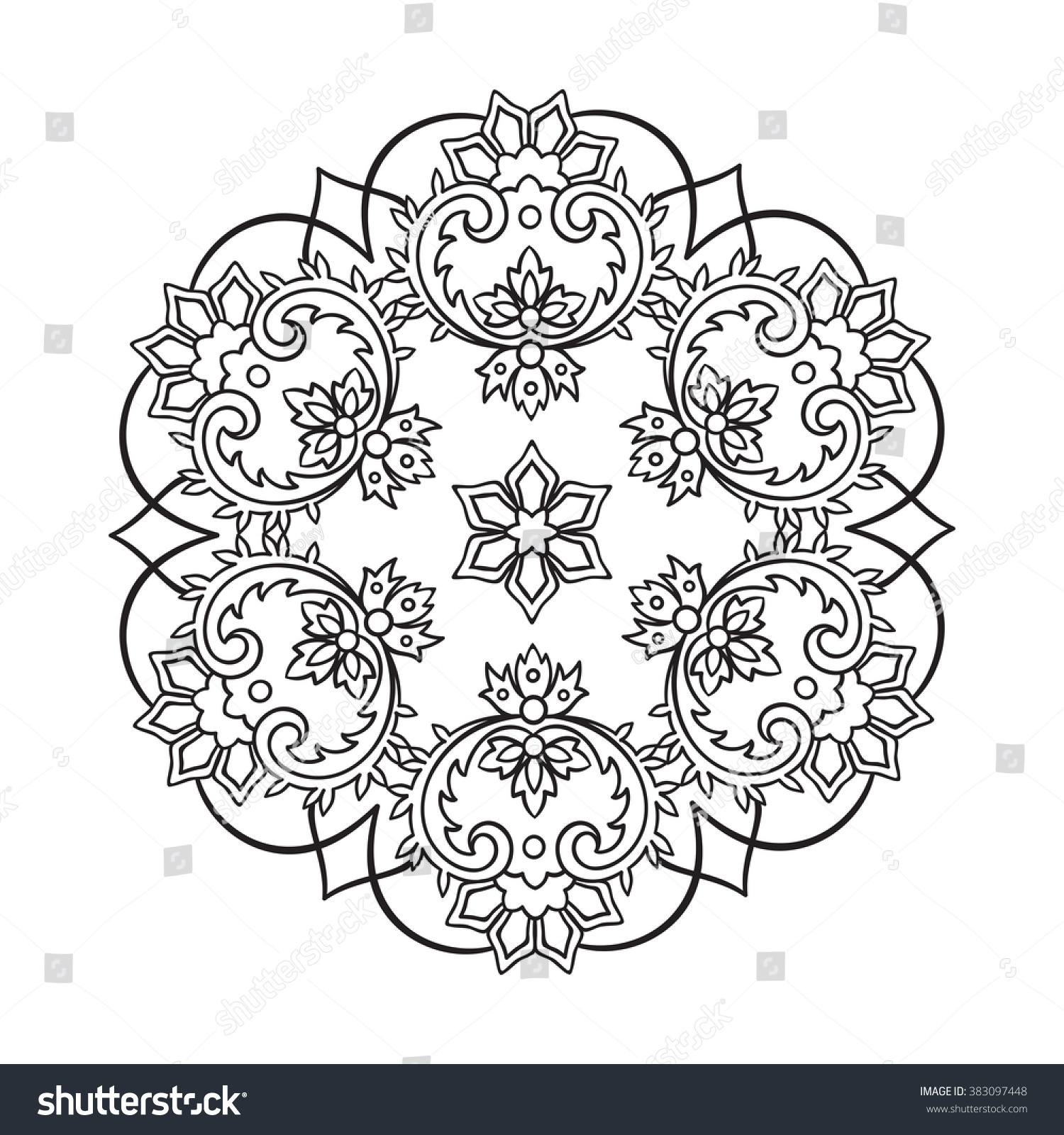 coloring book pages kids adults hand stock vector 383097448