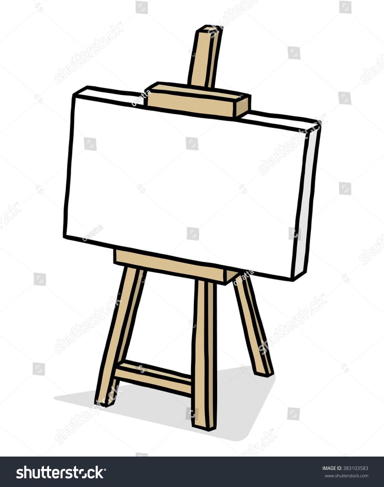 wooden easel blank canvas cartoon vector stock vector 383103583 rh shutterstock com canvas clipart images canvas bag clip art