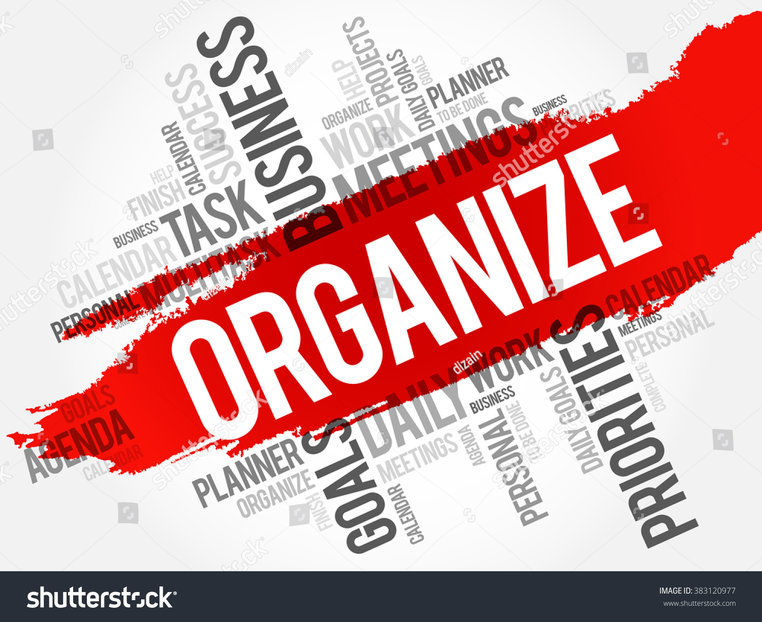 Organize Word Cloud Business Concept Stock Vector ...