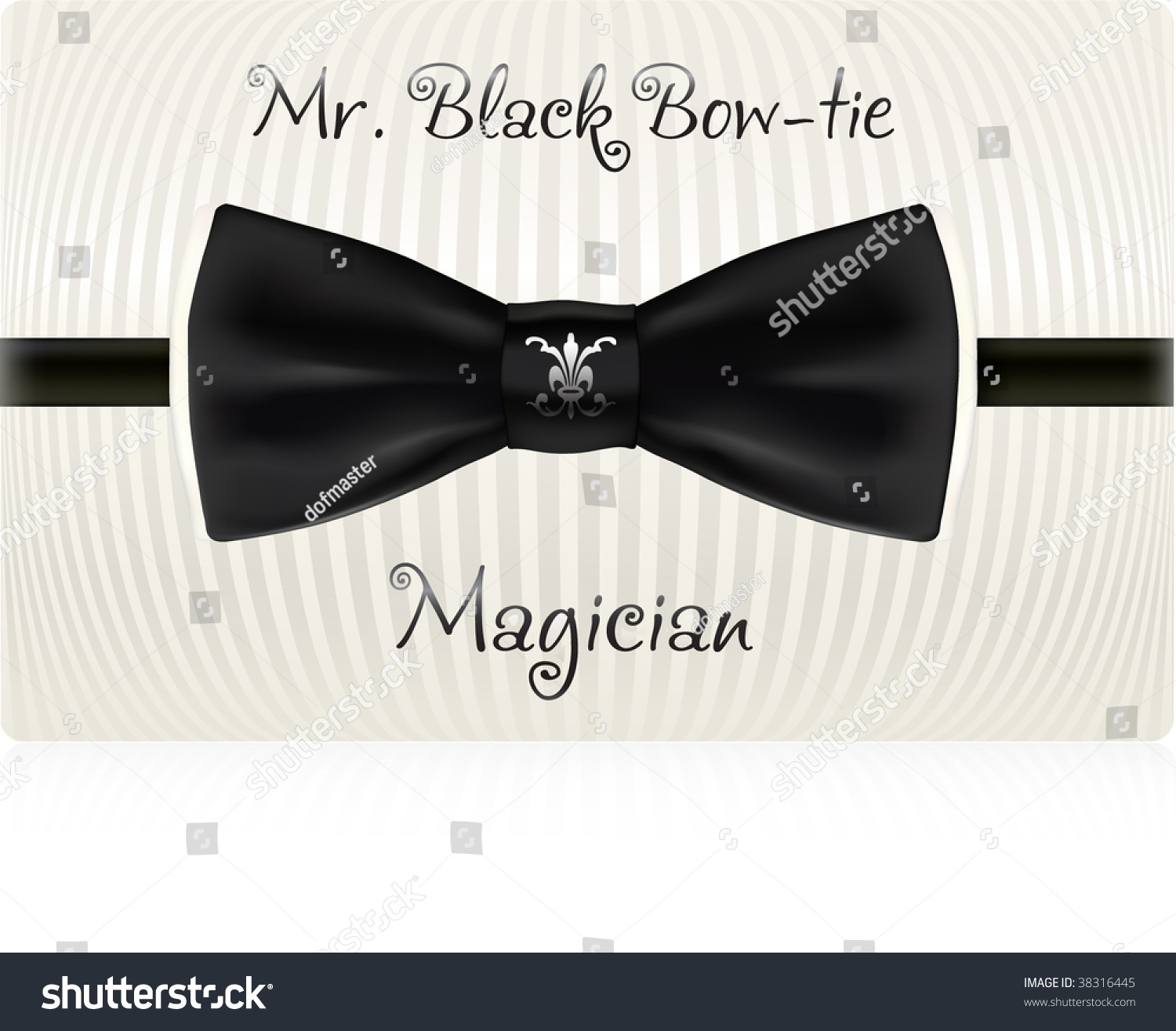 black bowtie business card template vector stock vector 38316445