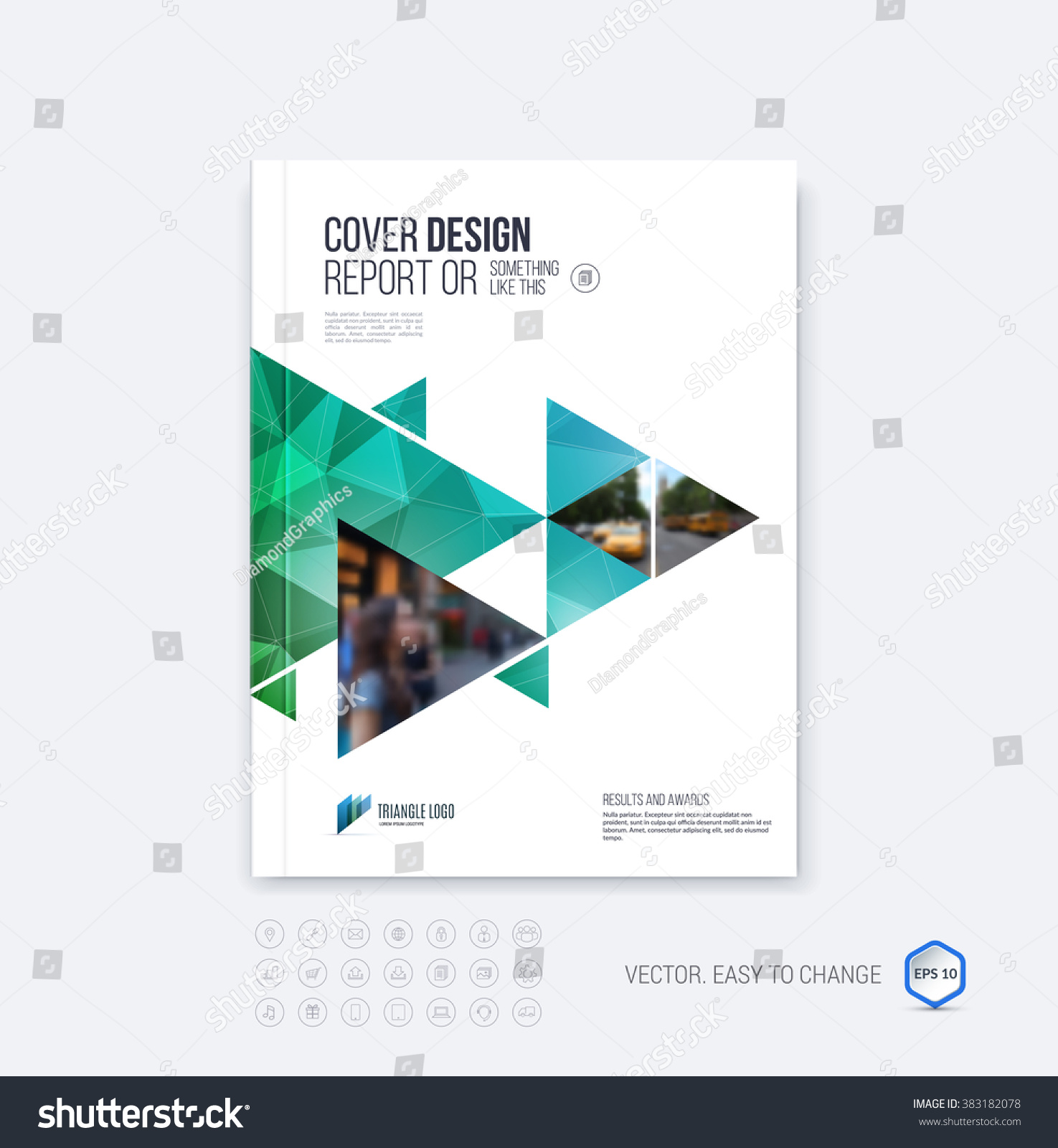 Royaltyfree Brochure template layout cover design 383182078 – Emerald Flyer Template