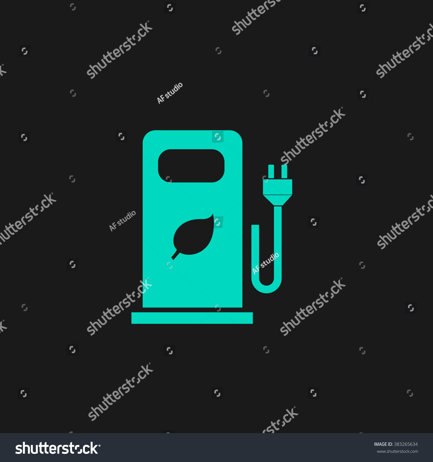 Electric Car Charging Station Bio Fuel Stock Vector 383265634 ...